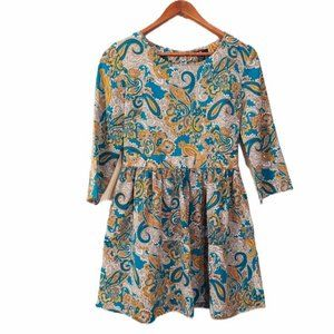 H&M Women Blue and Yellow Baby Doll Dress 10
